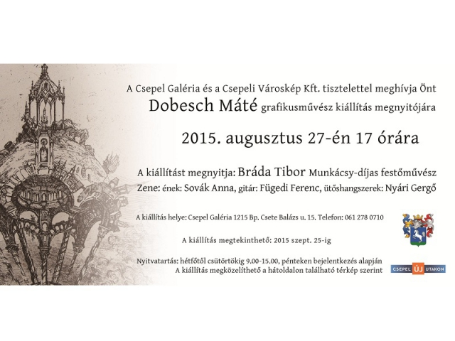 Dobesch Máté grafikusművész kiállítása
