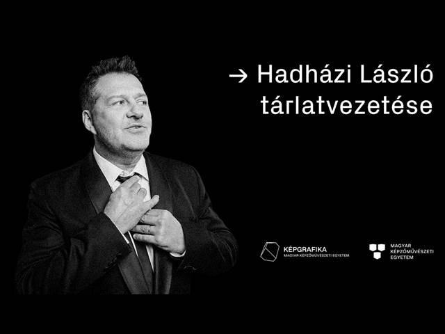 Hadházi László rendhagyó tárlatvezetése a Graphics open2 kiállításon