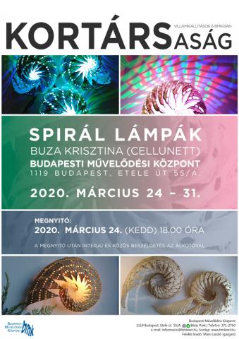 KORTÁRSaság – Villámkiállítások a BMK-ban: Buza Krisztina: Spirál lámpák || Cellunett