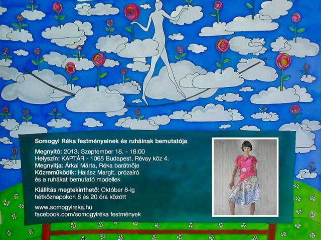 Somogyi Réka selyemfestményei