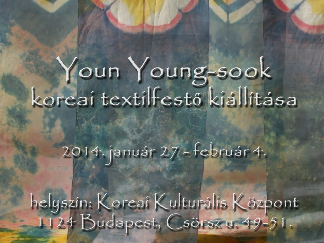 Hagyományos koreai természetes festési technikák és a modern textilművészet.